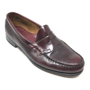 Men's Bass Penny Loafers Dress Shoes Size 10.5M